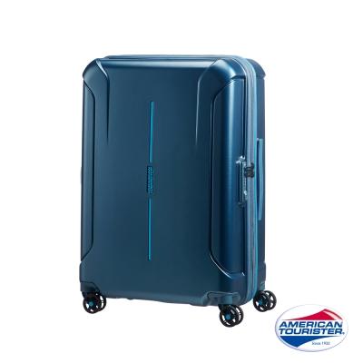 AT 美國旅行者 25吋Technum 防刮飛機輪TSA海關鎖行李箱 藍 37G*01002