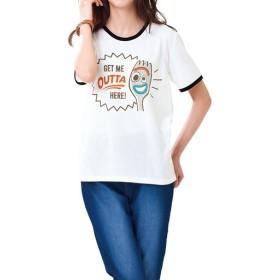 【レディース】 プリントTシャツ(トイ・ストーリー) ■カラー:オフホワイト ■サイズ:M,L,LL,3L