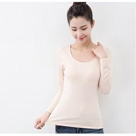 [Pink17°] カップ付きTシャツ レディース カットソー ゆったり 長袖 3色4サイズ 150(ベージュXL)