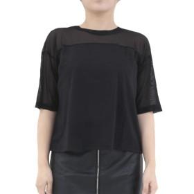 [RONDEL-BLACK(ロンデルブラック)] シースルー デザイン トップス Tシャツ カットソー ダンス衣装 黒 無地