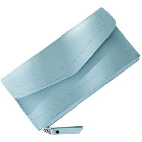 Duevin 長財布 レディース 超薄型 財布 カード6枚収納 キャシュケース二つ 取り出しやすい 猫 可愛い PUレザー 6色 軽量 携帯サイズ(グリーン) …