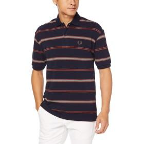 [フレッドペリー] ポロシャツ Striped Pique Shirt F1785 メンズ 01_NAVY UK M (日本サイズL相当)