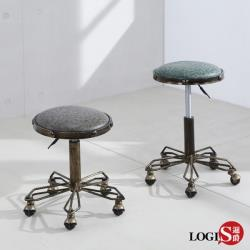 LOGIS 復古升降圓凳 吧檯椅 美甲美容椅 休閒椅 美髮椅 美睫椅 工作椅 DB01