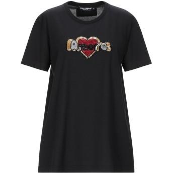 《セール開催中》DOLCE & GABBANA レディース T シャツ ブラック 40 コットン 100%