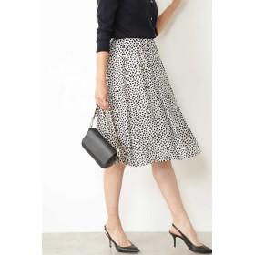NATURAL BEAUTY ◆[ウォッシャブル]リーフ柄スカート ひざ丈スカート,ベージュ