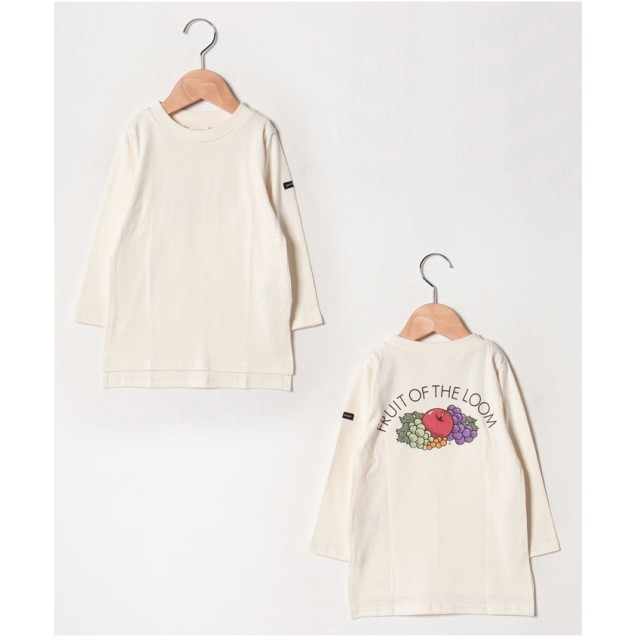 petit main 【FRUIT OF THE LOOMコラボ】 無地バックプリントTシャツ(オフホワイト)【返品不可商品】