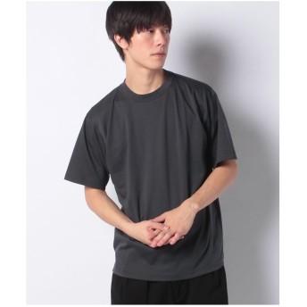 koe ハイゲージポンチ袖切り替えTEE(グレー)【返品不可商品】