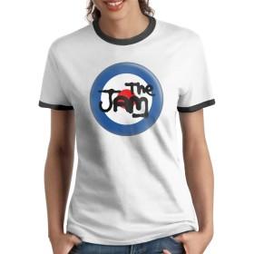 ザ・ジャム The Jam Tシャツ ラグラン 女性 半袖 ラウンドネック 吸汗速乾 無地 カジュアル 通学 夏服 おしゃれ