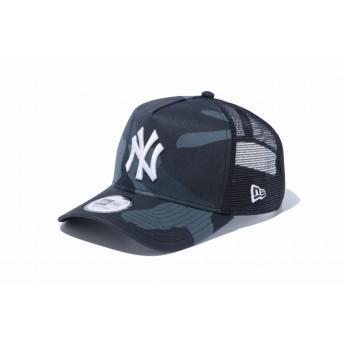 NEW ERA ニューエラ 9FORTY A-Frame トラッカー ニューヨーク・ヤンキース ウッドランドカモ ミッドナイト × ホワイト アジャスタブル サイズ調整可能 ベースボールキャップ キャップ 帽子 メンズ レディース 56.8 - 60.6cm 12119335 NEWERA メッシュキャップ