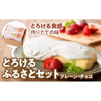 とろける生チーズケーキ(プレーン&チョコ)(とろける生チーズケーキ(プレーン)280g とろける生チーズケーキ(チョコ)280g 生メロンパン 1個)