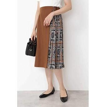 ナチュラルビューティーベーシック(NATURAL BEAUTY BASIC) スカーフプリント切替スカート【キャメル1/M】