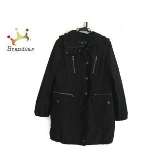 バーバリーロンドン Burberry LONDON コート サイズ36 M レディース 美品 黒 冬物 新着 20190813