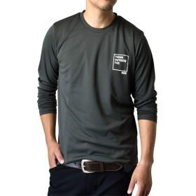 (アルージェ) ARUGE 感動ドライ 吸汗速乾 接触冷感 UVカット アメカジ プリント 長袖Tシャツ ロンT 夏用 ラッシュガード 日よけ メンズ / B1N / 3L 05チャコール