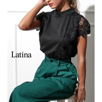 anap Latina アナップラティーナ プチハイネックモチーフレーススリーブトップス