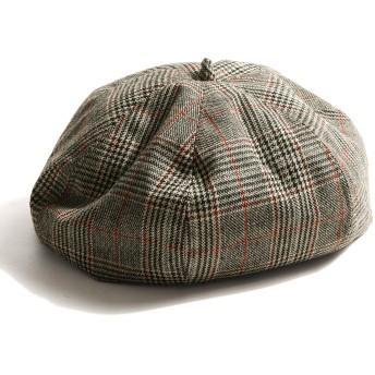 [ジップ セレクト] ZIP Select グレンチェック ベレー帽 メンズ zo-0024 グレー FREE