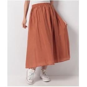 Te chichi Lugnoncure ヴィンテージサテンスカート(オレンジ)【返品不可商品】