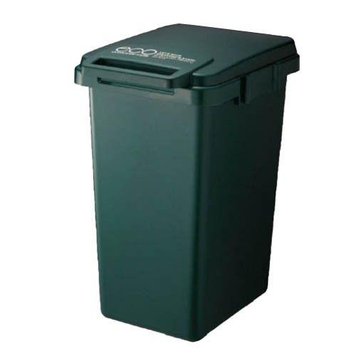 日本 eco container style - 連結式環保垃圾桶森林系-深綠色-45L