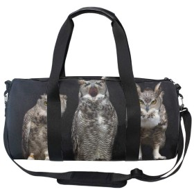 旅行用バッグ 鳥フクロウ 盗難防止フィットネススポーツ フットボール ドラムバッグ大容量トラベルバッグ キャビンオンフライト&ホールドオール