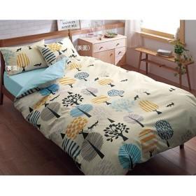 枕カバー(同色2枚組) 日本製綿100% - セシール ■カラー:北欧風フォレスト柄/ブルー) A(ネコ柄/ピンク ■サイズ:L(63×43cm)