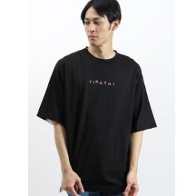 【SALE開催中】【semantic design:トップス】天竺切り替え刺繍入りBIG半袖Tシャツ