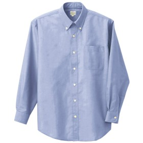 [アイトス] 長袖T/Cオックスボタンダウンシャツ(男女兼用) 007/サックス AZ-7822 L