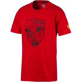 【プーマ公式通販】 プーマ フェラーリ ビッグシールド Tシャツ + 半袖 メンズ Rosso Corsa |PUMA.com