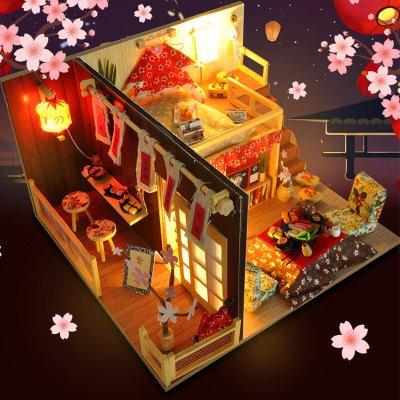 DIY 小屋 手工 禮物 聖誕送女友diy小屋阁楼别墅手工制作房子模型拼装女孩玩具男创意生日礼物女