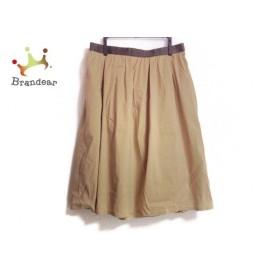 ニジュウサンク 23区 スカート サイズ46 XL レディース ベージュ×ダークブラウン 新着 20190813