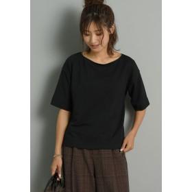 MAYSON GREY 【socolla】2WAYねじりプルオーバー Tシャツ・カットソー,ブラック