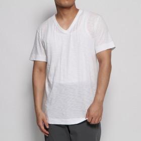リネーム Rename ベーシックVネックTシャツ (ホワイト)