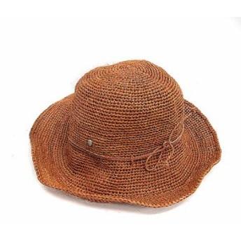 【中古】ヘレンカミンスキー HELEN KAMINSKI 帽子 ハット 麦わら 茶 ブラウン /NT37 ▲H レディース