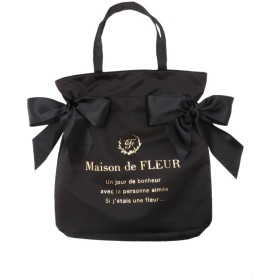 Maison de FLEUR ダブルリボントートバッグ