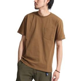 [ジップファイブ] ZIP FIVE ZIP FIVE × KANGOL ヘビーウェイト袖ワッペンクルーネック半袖Tシャツ kgsa-zi1910 1021BROWN XL