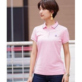 (GIORDANO/ジョルダーノ)[GIORDANO]CLMN刺繍ポロシャツ/レディース ピンク