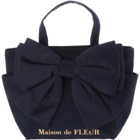 メゾンドフルール Maison de FLEUR ビッグリボンSトートバッグ (Navy)