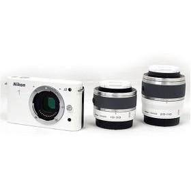 【中古】Nikon 一眼 1 J2 ダブルズームキット ホワイト