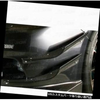 スバルインプレッサGRB GRF STIヴァリススタイルカーボンファイバーフロントバンパーカナード4本