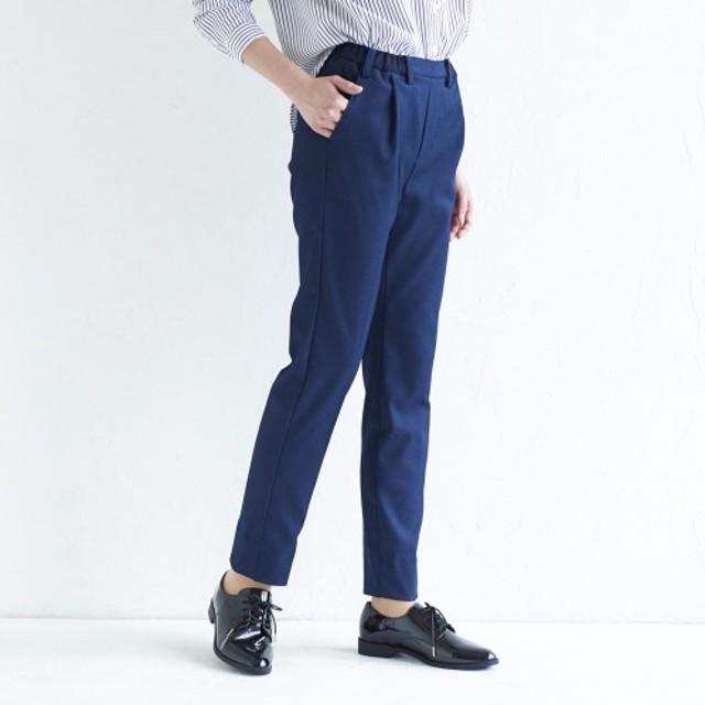 【10月16日まで】パンツのソムリエ 吸水速乾 きれい見え! デニム調スリムパンツ