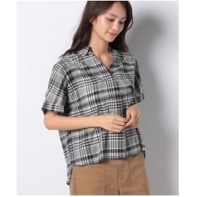 Te chichi Lugnoncure 60ローンスキッパーシャツ SS(ネイビー)【返品不可商品】