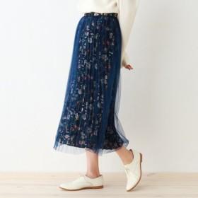 [マルイ]【セール】チュール重ねプリーツスカート/オゾック(OZOC)