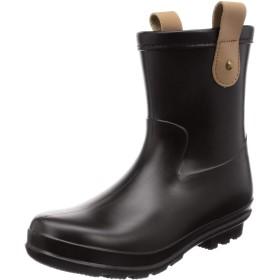 [ミレディ] カジュアルレインブーツ 本革 長靴 ML940 レディース BLACK S/M/L表示 L(24 cm)
