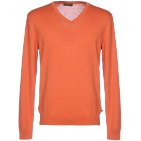 《セール開催中》BOSS HUGO BOSS メンズ プルオーバー オレンジ M コットン 70% / 麻 30%