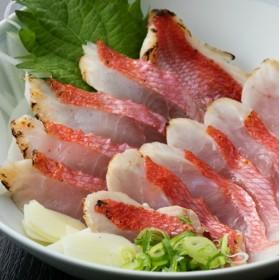 HN048初音の金目鯛のたたきセット【チリ酢と薬味付き】