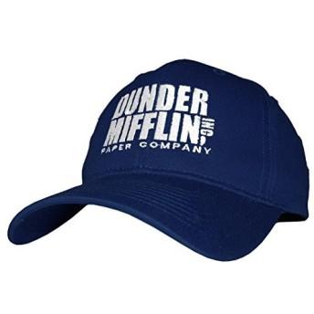 Dunder Mifflin Paper Company Inc–刺繍コットンツイルベースボールキャップ帽子 カラー: ブルー