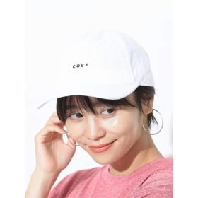 [コーエン] 帽子 チビ ロゴ 刺繍 ベース ボール キャップ メンズ ホワイト Free 75856008034 0100