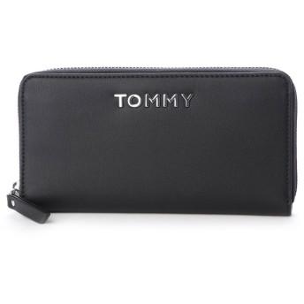 トミーヒルフィガー TOMMY HILFIGER 【オンライン限定】TOMMYロゴロングウォレット (ブラック)
