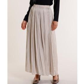 【スーペリアクローゼット/SUPERIOR CLOSET】 サテンプリーツスカート