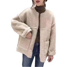 HAPPYJPボア ブルゾン ジャケット レディース 秋冬 アウター コート ゆったり 暖かい フリース
