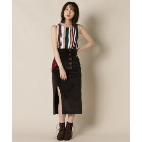 (REDYAZEL/レディアゼル)配色ポケットスリットタイトスカート/レディース ブラウン