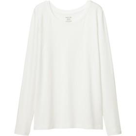 (GU)クルーネックT(長袖) OFF WHITE XS